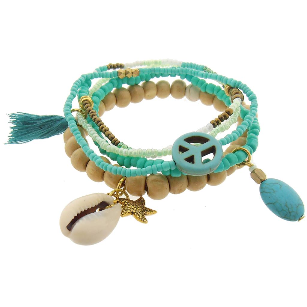 Fairtrade Armband Ibiza Turquoise Paradise van Sieraden4Life