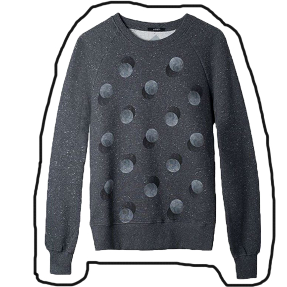 Päälä Sweater Double Dots Black van biologische katoen