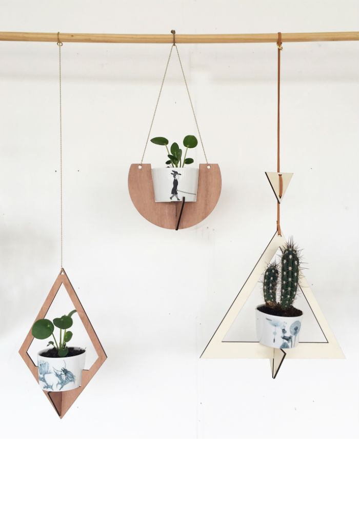 All things we like_houten plantenhanger diamond small