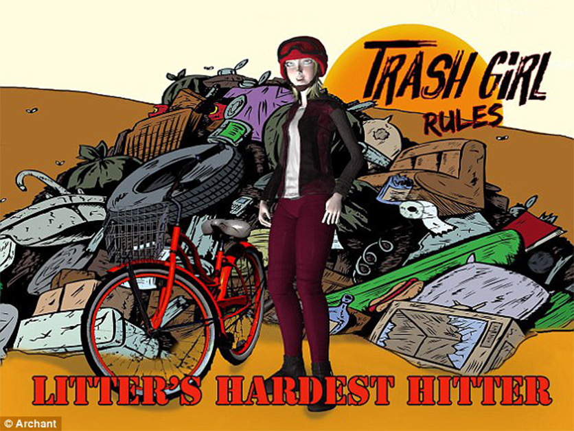 De cartoon/strip van Trash Girl