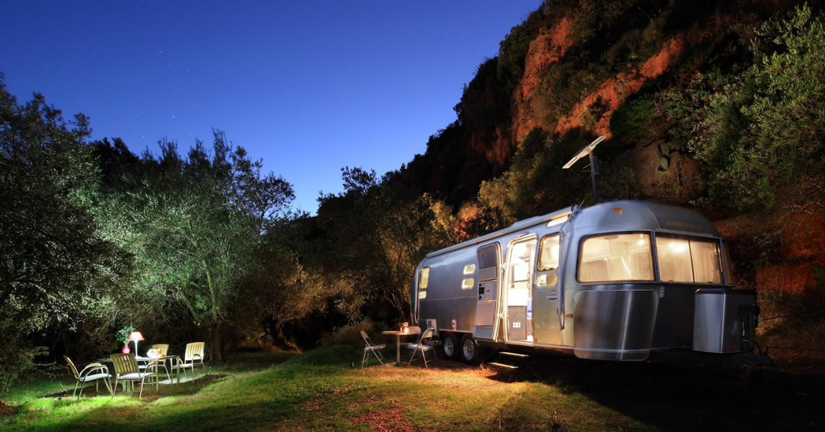 Airstream glamping in Andalusië