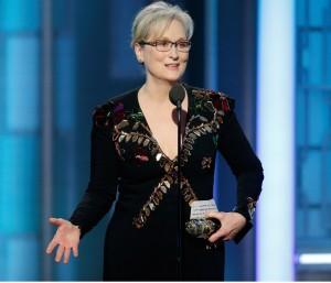Meryl Streep neemt haar Lifetime Achievement Award in ontvangst
