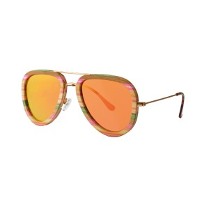 Bamboe zonnebril ZWS12B van Greentime