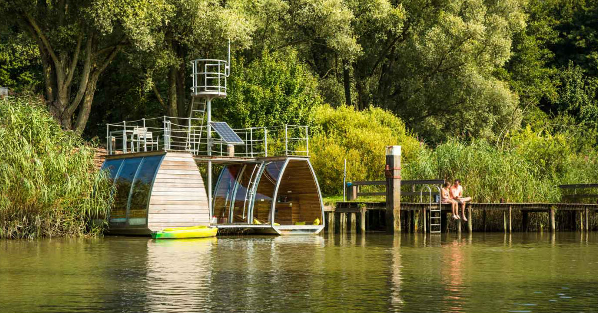 Ecolodge in de Biesbosch