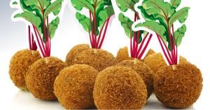 Bieterballen: vegetarische bitterballen van bietjes